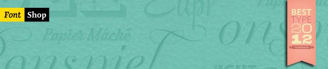 "Tipos de letra da DSType na lista ""Class of 2012"" da FontShop"
