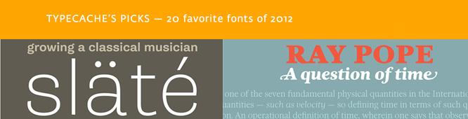 Typecache 20 tipos de letra favoritas del año 2012